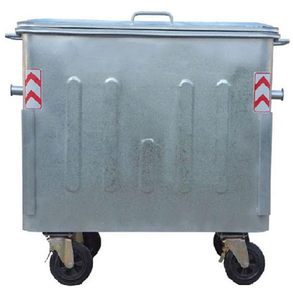 سطل-زباله-گالوانیزه-با-درب-فلزی
