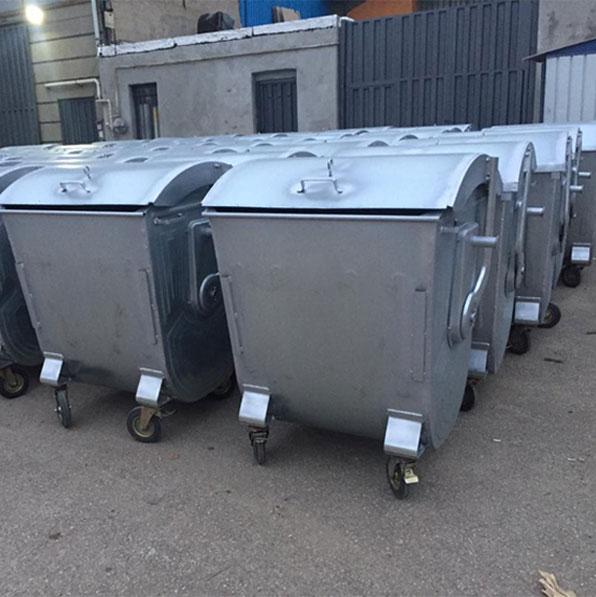 سطل زباله 1100 لیتری درب بارانی