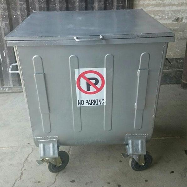 سطل زباله 660 لیتری گالوانیزه