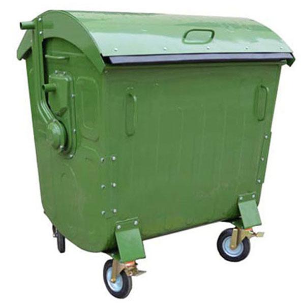 سطل زباله 770 لیتری درب بارانی