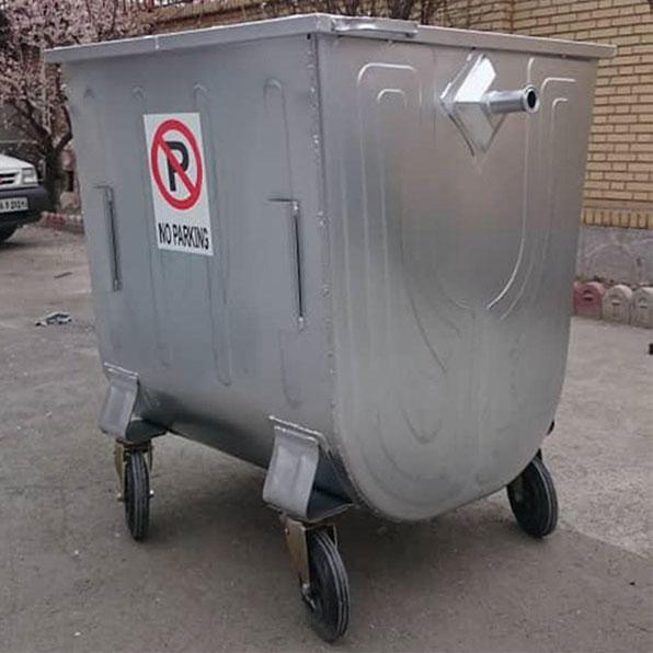 مخزن زباله 100 لیتری محدب