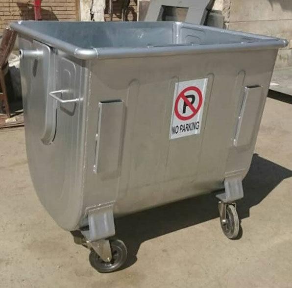 سطل زباله 770 لیتری گالوانیزه