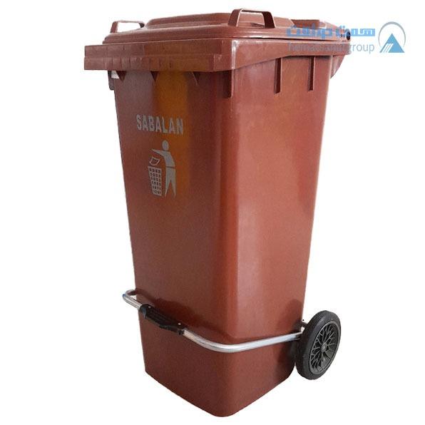 سطل زباله 100 لیتری پدال دار