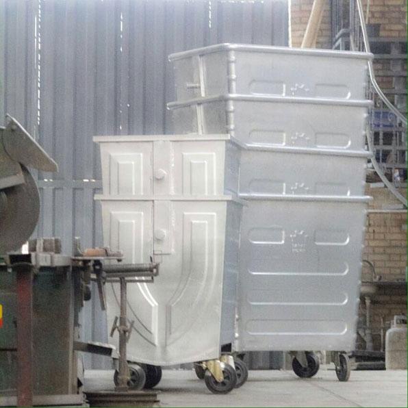 تولید-سطل-زباله-660-لیتری-فلزی