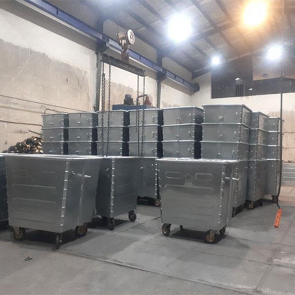 تولید سطل زباله 770 لیتری