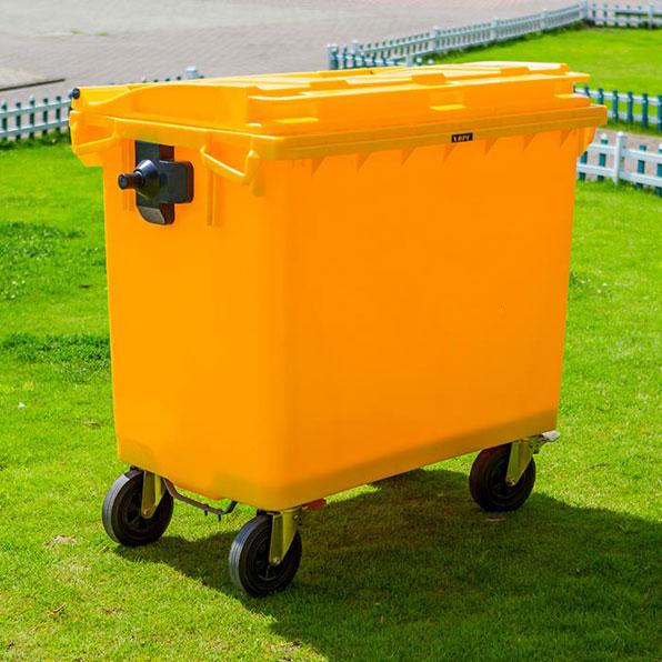 سطل زباله بزرگ پلاستیکی 660 لیتری