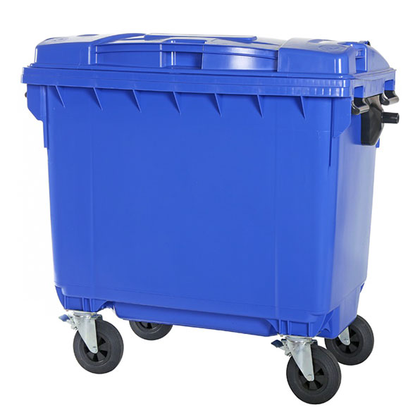سطل زباله 660 لیتری پلی اتیلن