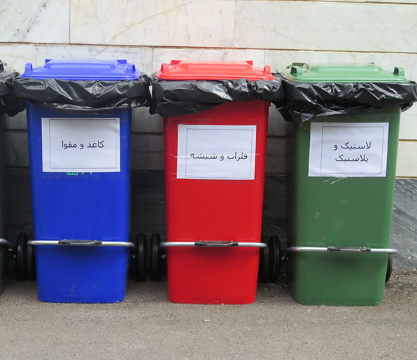 سطل تفکیک زباله 100 لیتری پدالی