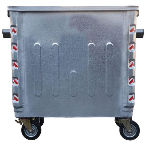 سطل زباله بزرگ فلزی چهار چرخ