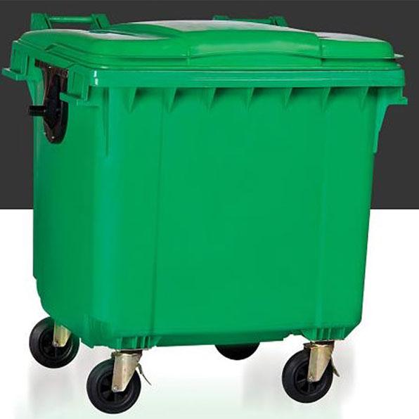 سطل زباله مکانیزه 1100 لیتری سبلان