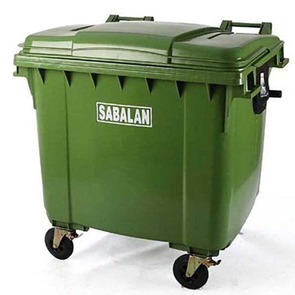 سطل زباله 1100 لیتری سبلان پلاستیک