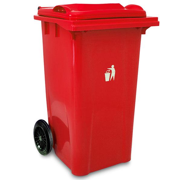 سطل زباله پلاستیکی بزرگ چرخدار