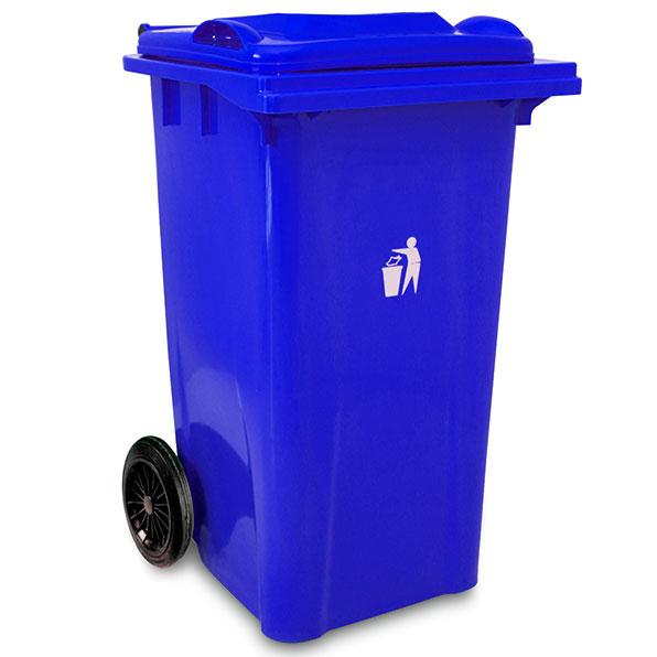 سطل زباله پلاستیکی چرخدار 240 لیتری
