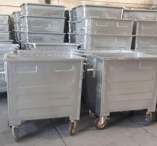 تولید سطل زباله گالوانیزه 660 لیتری