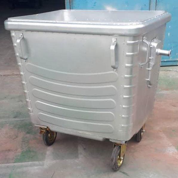 سطل زباله شهری گالوانیزه 1100 لیتری