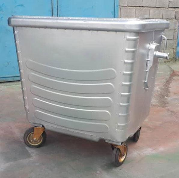 سطل زباله فلزی خیابانی 1100 لیتری
