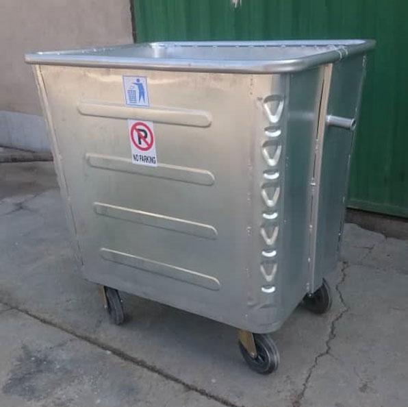 سطل زباله فلزی شهری 1100 لیتری