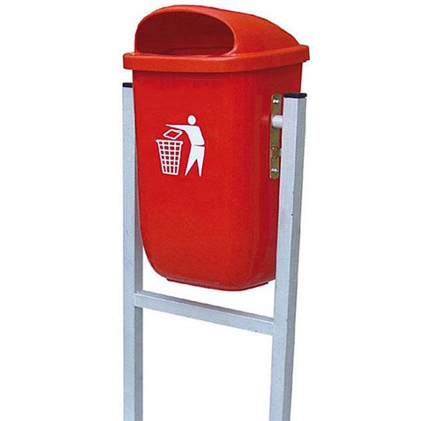 سطل زباله پایه فلزی 50 لیتری