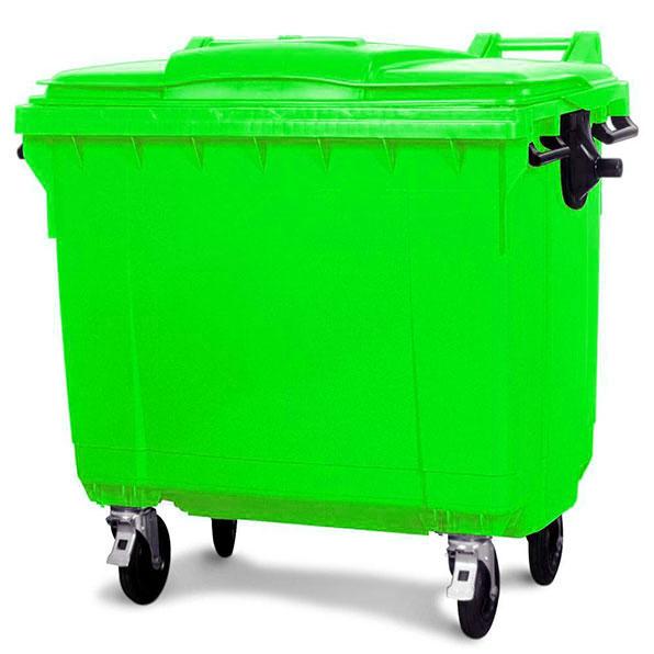 سطل زباله پلاستیکی شهرداری 1100 لیتری